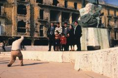 Colour snapshot  Place des Canons  Beirut, 1982 from the series Beirut City Centre, 1991,  courtesy the artist