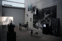 video still from Intro,  The found footage (from the Fourth Wall) 2011, Video, photography, 16mm, installation, exhibition view, Barbican Center, London, Photo: Clemens von Wedemeyer, © VG Bild Kunst