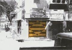 Mystical Mundane, 2010, from the series Without my own vehicle, Varanasi, 2009 – 2010, mixed media processed photographs, different sizes, © the artist, Courtesy of Eleni Koroneou Gallery